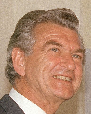 Bob Hawke, Prime Minister of Australia from 1983 to 1991 (image)