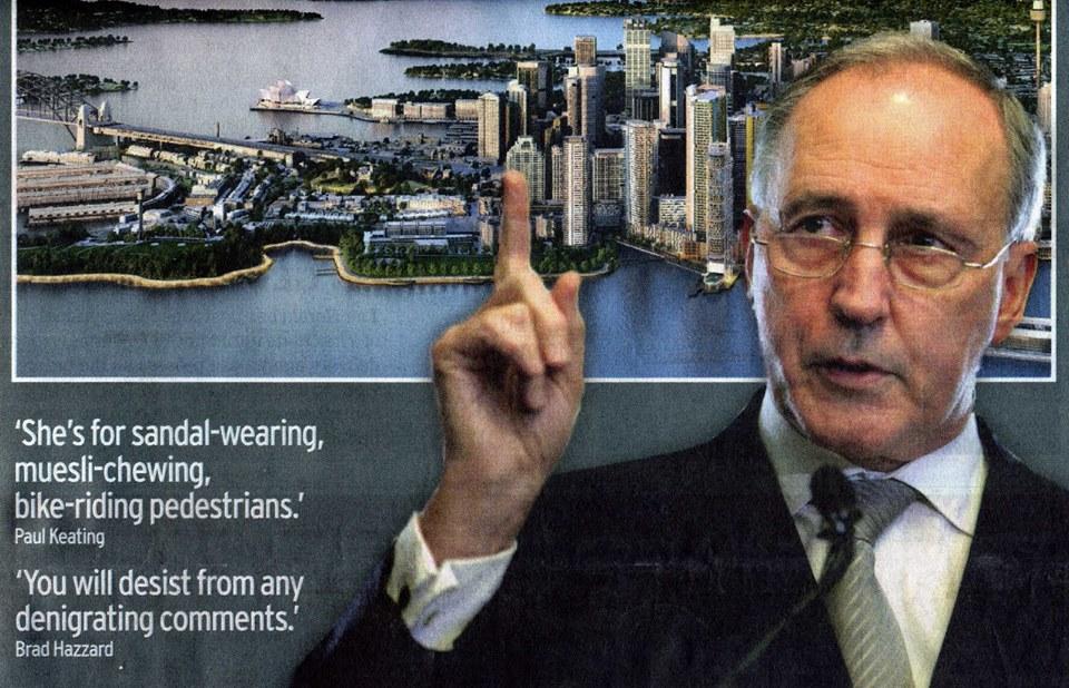 Paul Keating speaking of Clover Moore, 2011 (image)