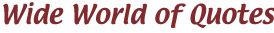 Wide World of Quotes logo